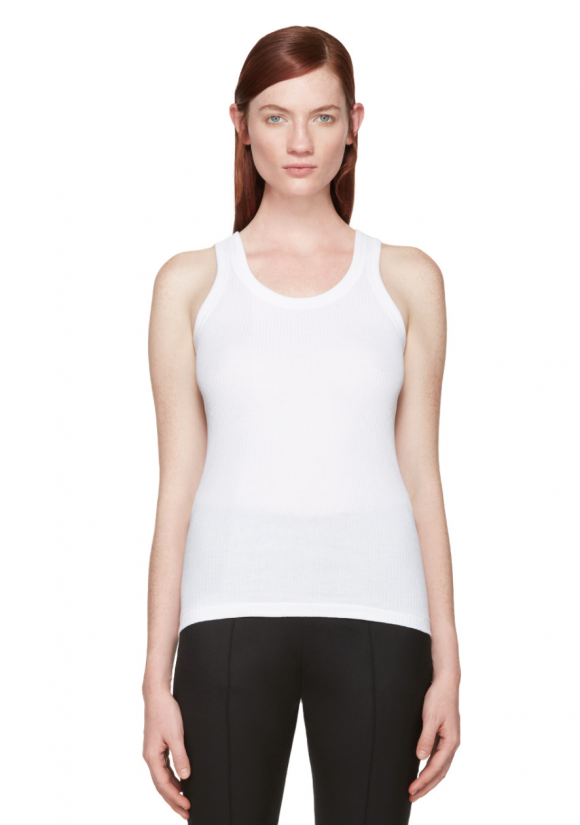 Ssense is a great site for what I call connector pieces, those basics you need to glue the more important pieces together. Right now they have luxury tees for mass prices. This Hyke tank from Japan is usually 120.00 now only 42.00!