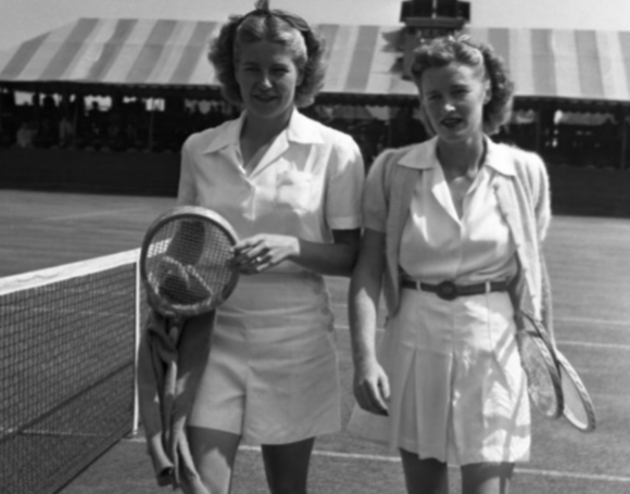 Louise Brough and Pauline Betz 1944