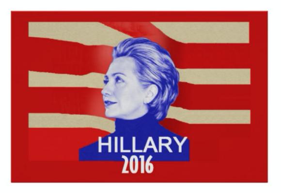 Hillary Clinton Poster Artwork Boulder Political Store