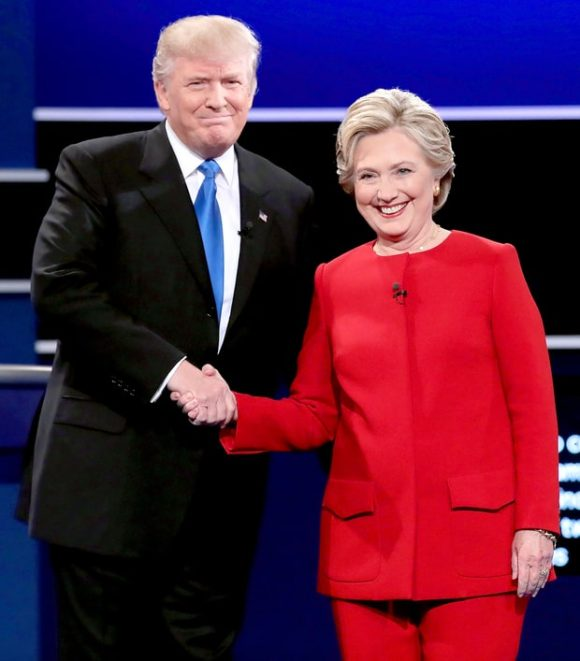Donald Trump Hillary Clinton usmagazine.com