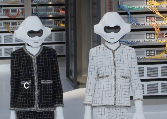Chanel clad robots open the show