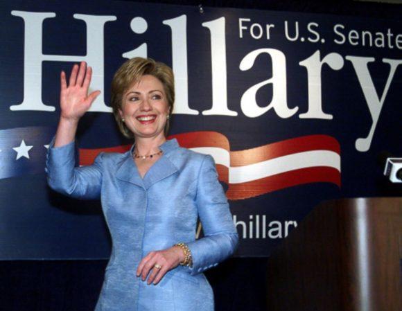 Hillary after winning New York Senate seat 2000