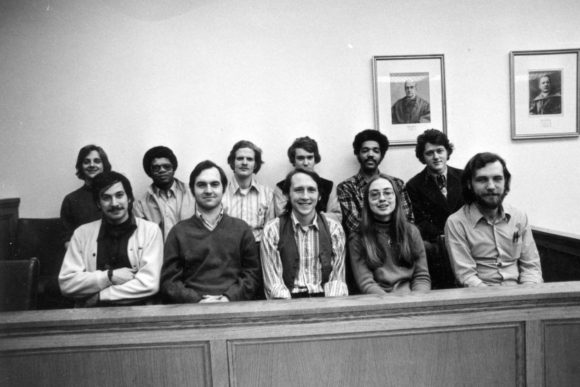 Hillary with her Yale classmates 1973, notice she's the only woman