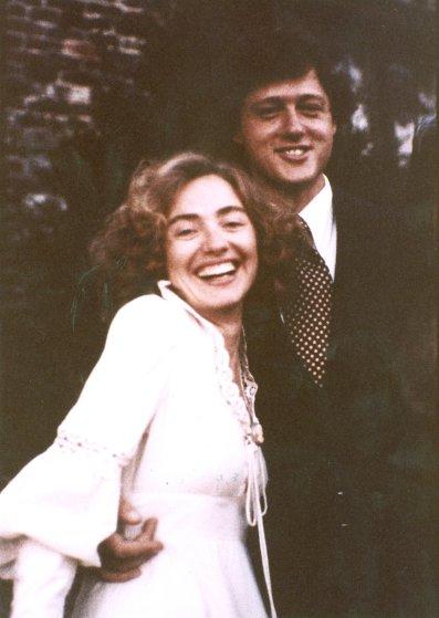 The Clinton's wedding day October 11, 1975