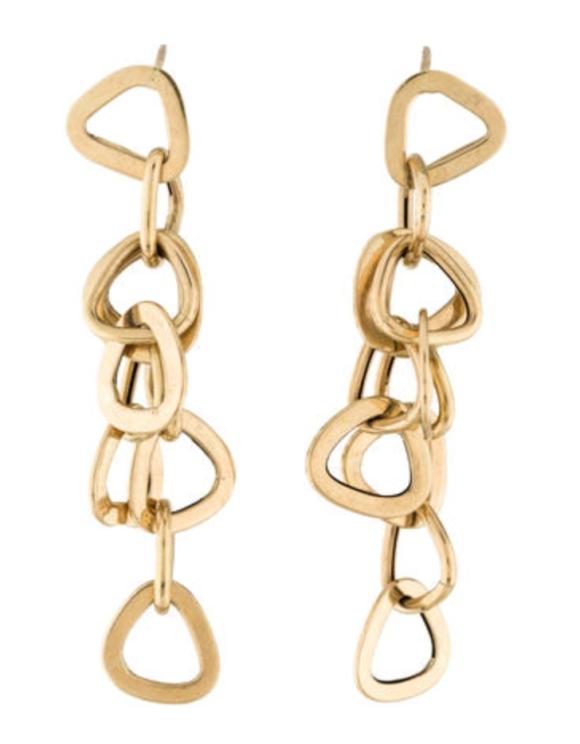 14 K gold chain earrings