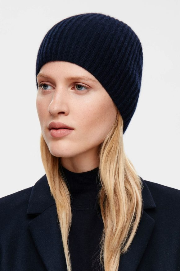 Cashmere ribbed hat COS