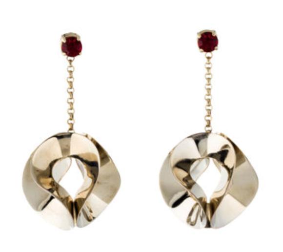 Etro crystal sculpted earrings