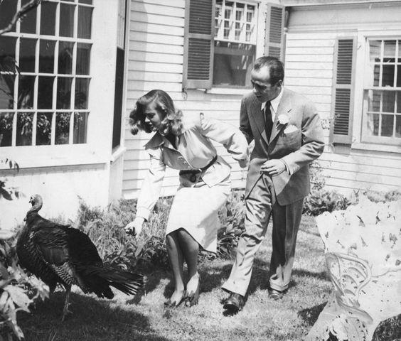 Lauren Bacall and Humphrey Bogart Turkey Hunt
