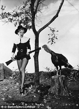 Marilyn Monroe pilgrim turkey hunter with heart