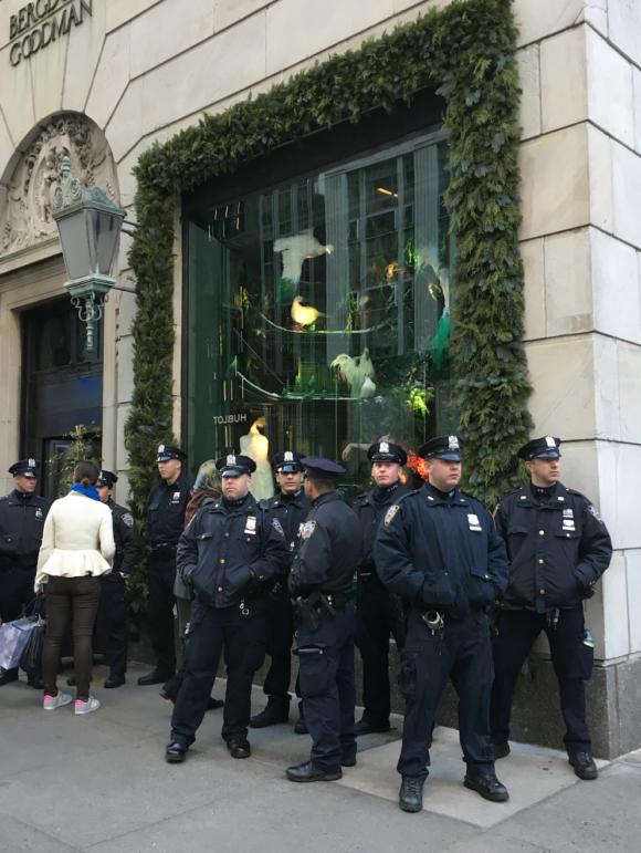 Police outside BG