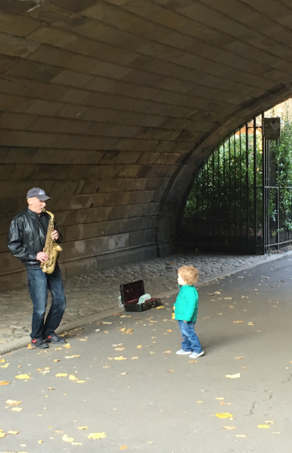 Saxaphone and little boy