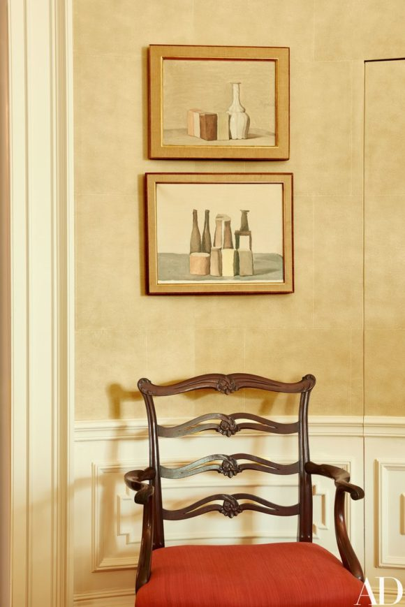 Paintings Giorgio Morandi. All photos Architectural Digest