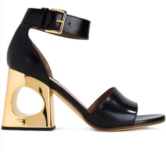 Marni block heeled sandal
