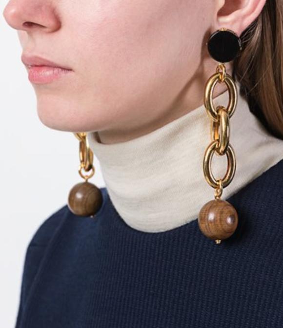 Marni chain clip earrings