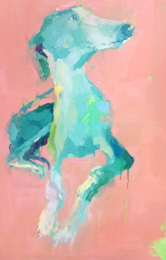 Galgo Oil Painting by Pilar Alvarez 1050 artfinder.com