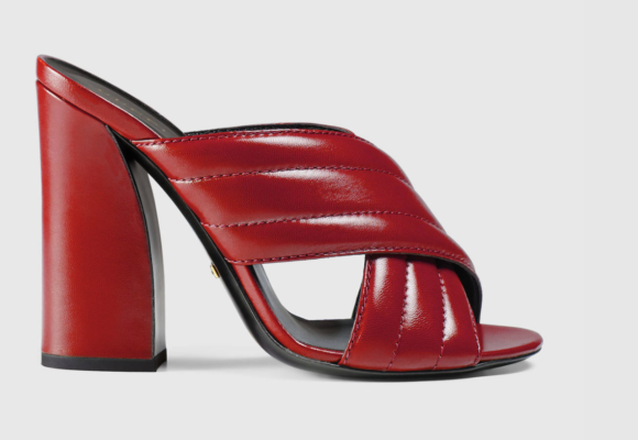 I still love this Gucci mule and the red is perfect.