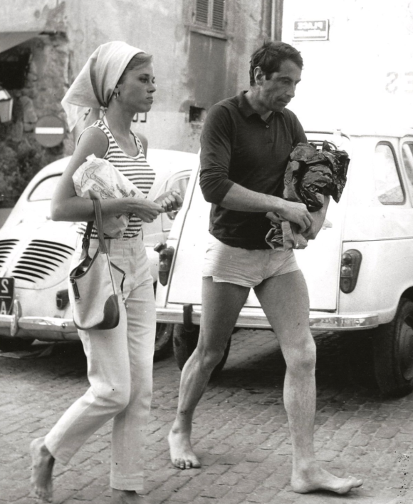 with first husband Roger Vadim