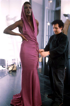 Azzedine Alaia, wits Grace Jones, an early supporter