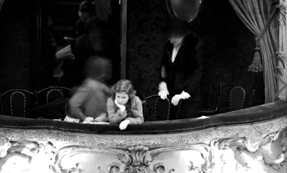 At the Lyceum Theater in the Duchess Box, 1935