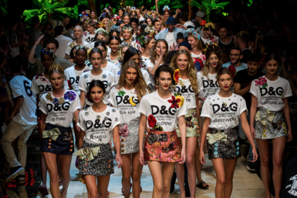 Dolce and Gabbana's Sp '17 branded finale