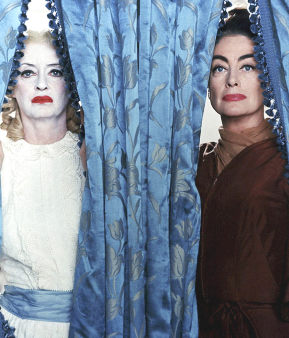 Bette Davis and Joan Crawford in a publicity still for the movie, 1962.