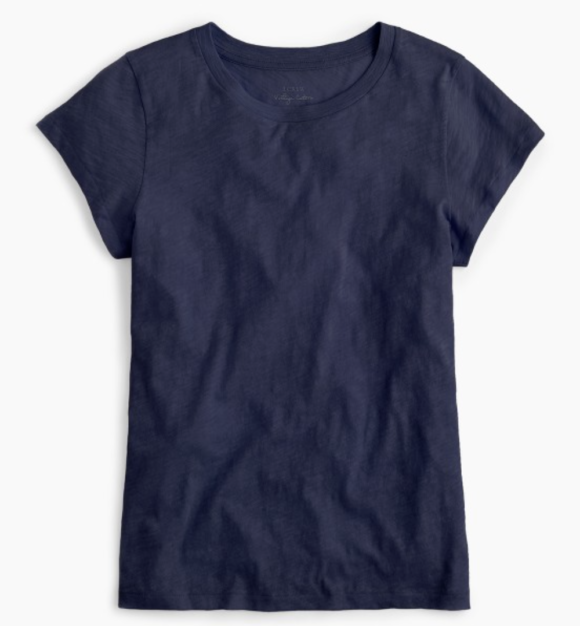 It comes in an array of colors. I'm partial to this blue, the perfect summer navy.