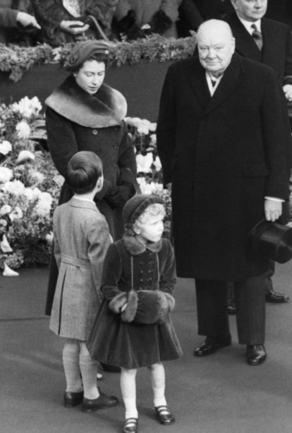 With Charles, Anne and Winston Churchill, I love how he's looking straight into the camera.