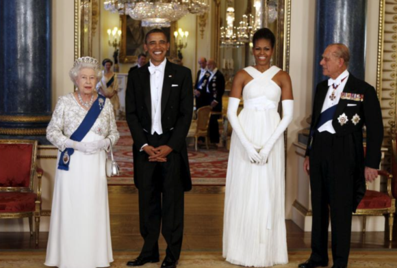 With the Obamas at Buckingham Palace May 24, 2011