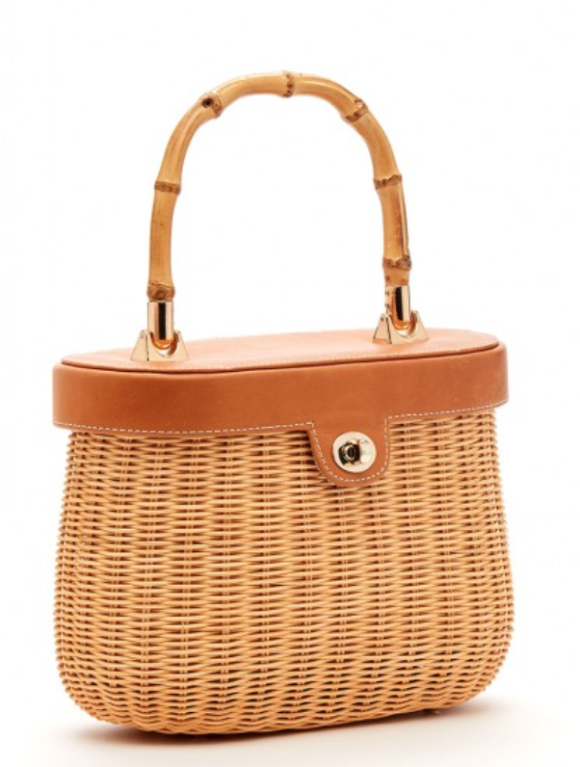 Ava Bamboo Handle Wicker Bag jmclaughlin.com