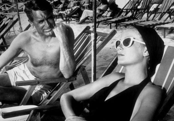 Grace Kelly with co-star Cary Grant
