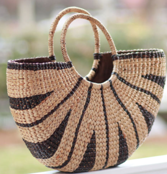 Straw Tote Seaand grass Etsy