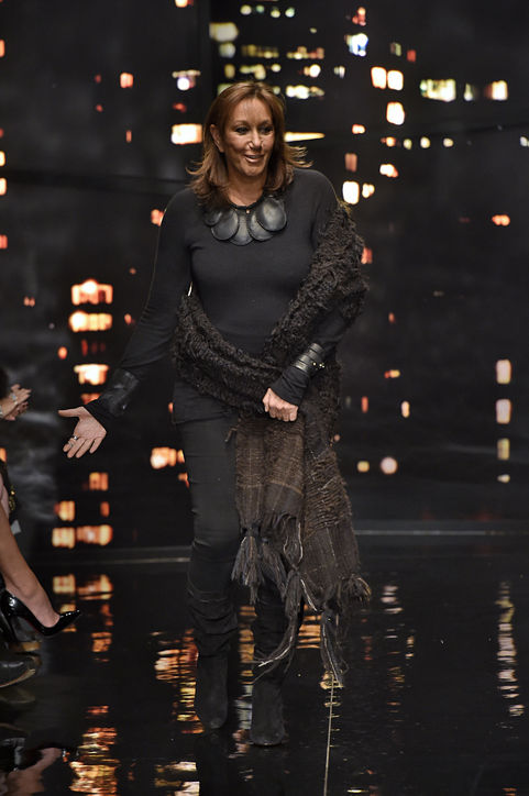Donna Karan takes her final bow for her eponymous collection