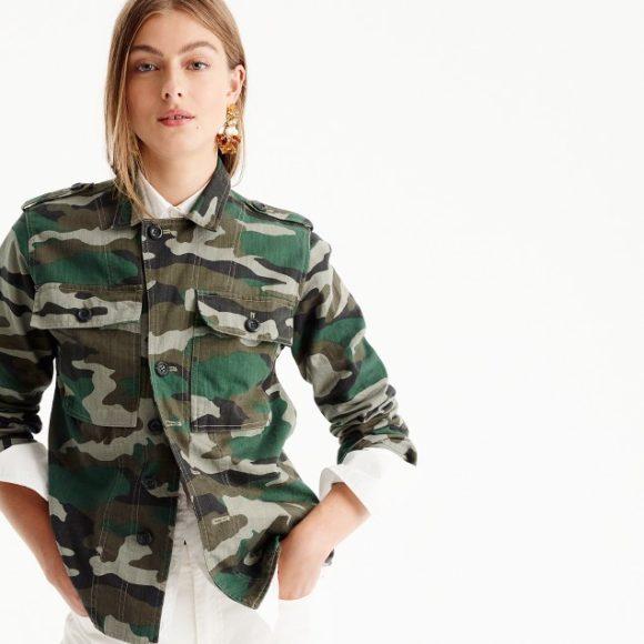 J Crew Camouflage Jacket Prima Darling
