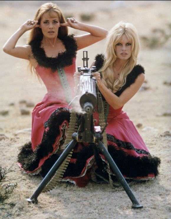 Jeanne Moreau with Brigette Bardot In Viva Maria