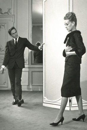 Jeanne Moreau and Pierre Cardin