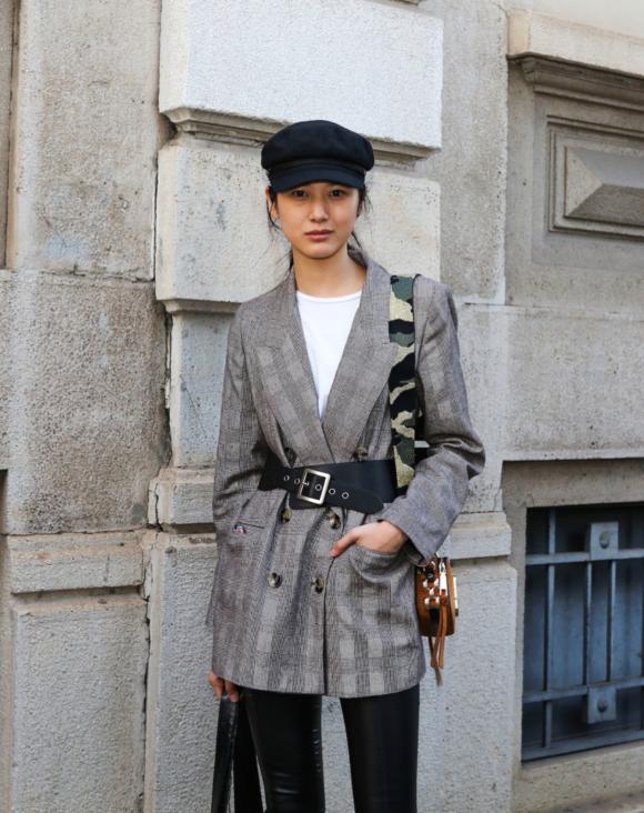 Street Style Sp'18 Fashion Week Masculine Belts