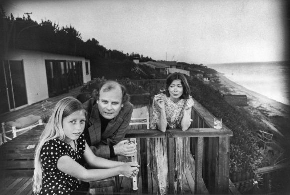 Didion, Dunne and daughter Quintana, Malibu