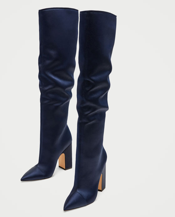 Zara satin boot Prima Darling