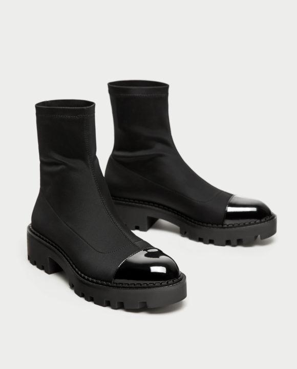Zara cap toe jodhpur boots