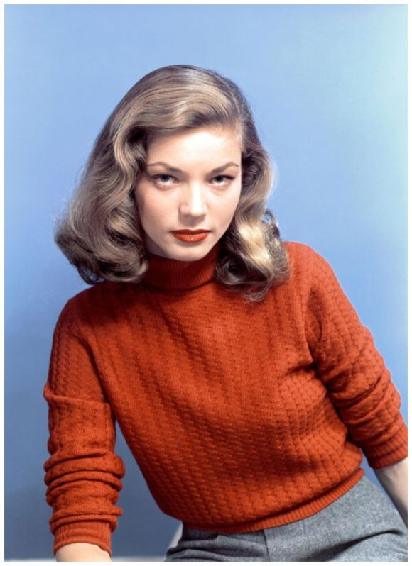 Lauren Bacall Turtlenecks Prima Darling