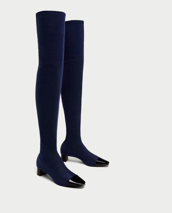 Zara cap toe boots