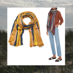 Saturday Deal, Striped Summer Scarf