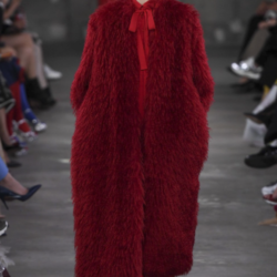 Red Alert At Valentino Pre-Fall